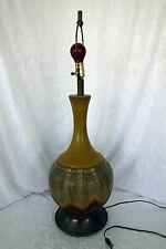 Mid Century Modern HUGE center piece table lamp drip glaze