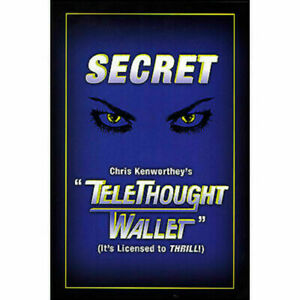 TeleThought Peek Wallet by Chris Kenworthy **Magic Trick Mentalist Mind Reader**