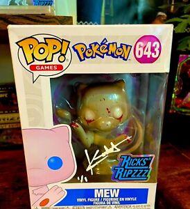 Custom 1/1 Zombie Mew Funko Pop By Kickstradomis Auto KicksNRipz Pokemon One