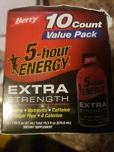 5 Hour Energy Extra Strength Berry 1.93 fl oz EACH 10 ct Brand New Exp 9/2022