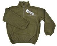 Italian Army Style 1/4 Zip Commando Jumper Fleece Top Cold Weather Pullover