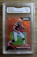 2018 Panini Prizm Nick Chubb Red Wave RC /149 GMA 10 #213 COMPARE W/ PSA