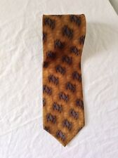 Jz Richards Silk Tie Blue Brown Made In America Euc