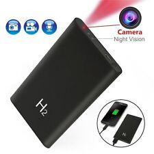 5000mAh Power Bank Spy Hidden Camera Night Vision 1080P DVR Recorder Black