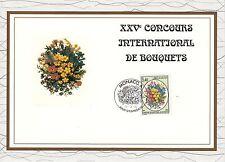MONACO CEF PREMIER JOUR 1992 TIMBRE  N° 1815 BOUQUET DE FLEURS DIVERSES