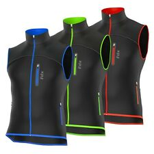 FDX Mens Signatures Cycling Gilet Breathable Wind Stopper Running Softshell Vest