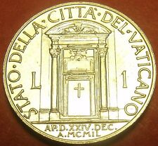 Rare Unc Vatican 1950 Lira~Holy Year Door~Only 50,000 Minted~Free Shipping