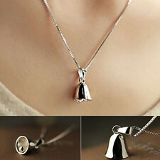 Fashion Silver Retro Simple Bell Pendant Charm Necklace Unique Gifts