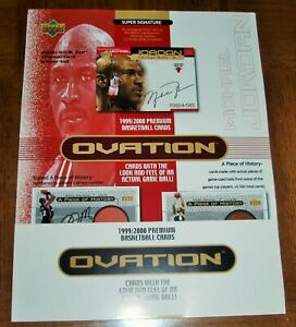 1999 - 2000  MICHAEL JORDAN - UPPER DECK BASKETBALL  -  NBA  - OVATION -  AD