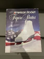 White Figure Skates By American Rocket Brand New In Box! Women's Size 8