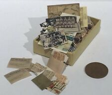 HAND-MADE DOLLS' HOUSE : 1:12TH box of letters, photo's, wills and bills SALE!!!