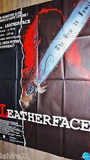 MASSACRE A LA TRONCONNEUSE 3 leatherface III !  affiche cinema horreur gore
