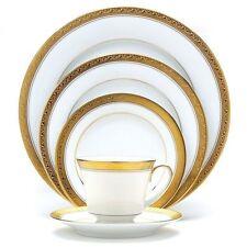 Noritake Crestwood Gold 50-pc Dinnerware Set Service /8 +Bowl, Platter FREE SHIP