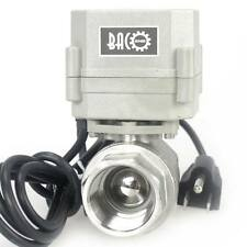 "BACOENG 1"" NPT 110V~230VAC w/ US Plug Normally Closed SS304 Motorized Ball Valve"