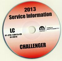 2013 Dodge Challenger Shop Service Repair Manual CD SXT R/T SRT8 3.6L 5.7L 6.4L