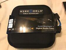 New listing Wire World Gold Starlight Digital audio Cable .5m Balanced Digital 110-ohm. (Gsa
