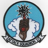 """4.25"""" NAVY VA-27 HISTORICAL SQUADRON ATTACK SQUADRON EMBROIDERED JACKET PATCH"""