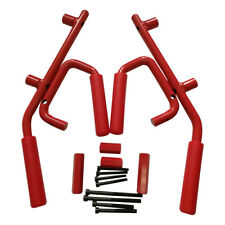 Front and Rear Grab Bar Handles for 07-17 Jeep Wrangler JK Unlimited 4 Door Red