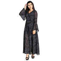 Hell Bunny Spin Doctor Dark Sea Skeleton Mermaid Wicca Witch Gothic Maxi Dress