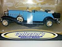 Anson 1932 Blue Cadillac Sport Phaeton Collector's Die Cast Model Car 2001 Boxed