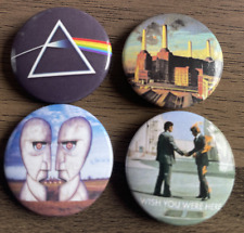More details for pink floyd set of 4 button badges - classic rock band - division bell 25mm pins