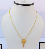 Ethnic South Indian Gold Plated Necklace Bridal Fashion Jewelry Chain pendant k8