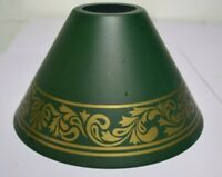 VINTAGE GREEN WITH GOLD DESIGN METAL LAMP SHADE