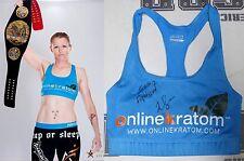 Tonya Evinger Signed Invicta FC 17 Fight Worn Used Sports Bra PSA/DNA MMA UFC