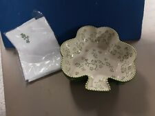 Temptations by Tara - Floral Lace - Green Shamrock bowl with matching napkin