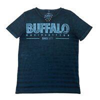 Buffalo David Bitton T-Shirt Men Size S Short Sleeve Split Neck Short Sleeve Tee