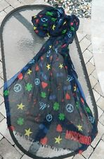 """Authentic $110 Moschino Funky Peace 28""""x70"""" Scarf Wrap NWT-SOLD OUT!"""