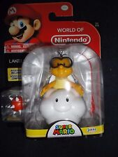 "World of Nintendo, Super Mario LAKITU 4"" figurine with SPINY Series 2-5, New"