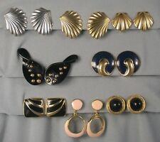 LOT - 8 Pr Trifari 80s Earrings