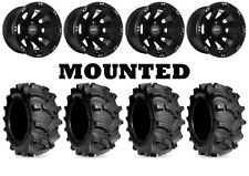 Kit 4 Kenda Executioner Tires 25x8-12/25x10-12 on Sedona Spyder Black Wheels POL