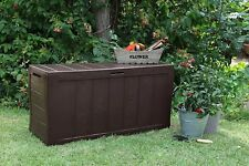 Keter Sherwood Outdoor Plastic Storage Box Garden Furniture Patio Weather-Resist