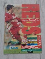491) Liverpool v Ipswich Town programme premiership 14-1-1995