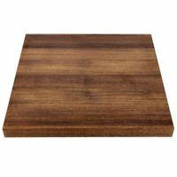 Bolero Pre-Drilled Square Table Top Rustic Oak 48Mm Thick Chipboard