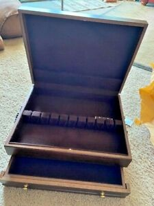 Wallace Wood Flatware Chest with Drawer & Tarnish Resistant Lining
