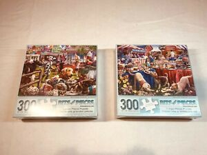 Bits and Pieces Desserts/Ice-cream 300 Piece Puzzle New Factory Sealed Lot of 2