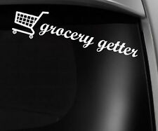 Grocery Getter jdm vinyl decal sticker drift funny dope Low Slammed (Grocery8KA)