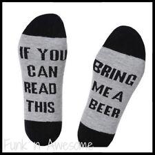 Bring Beer SOCKS.  If You Can Read This Bring Me A BEER. Comfy Socks. Black/Grey