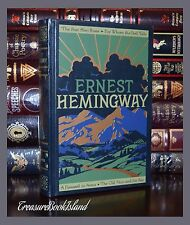 Ernest Hemingway Farewell Arms Old Man Sea New Sealed Leather Bound Collectible