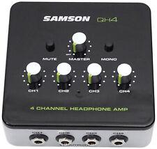 SAMSON QH4 4 Canales Monitoreo De Estudio/podcast Amplificador De Auriculares