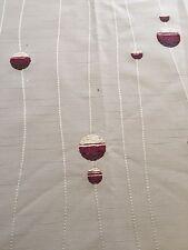 Curtain Sample Rem Fabric Blind Cushion Craft 70x93cm Cream Red