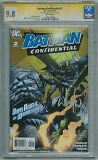 BATMAN CONFIDENTIAL #2 CGC 9.8 SIGNATURE SERIES SIGNED WHILCE PORTACIO DC COMICS