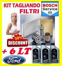 KIT TAGLIANDO 4 FILTRI FORD MONDEO III 2.0 TDCI 85KW+ 6LT OLIO FORD FORMULA 5W30