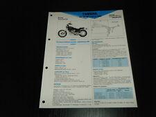 FICHE TECHNIQUE MOTO RMT YAMAHA XV 750 SE (1981 à 1983) (RMT2)