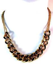 Elegante Dorado Cadena Multi Capa Collar de Declaración Gargantilla Estilo Nuevo único (Cl5)