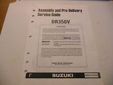 Suzuki Assembly And Pre Delivery Service Manual DR350V