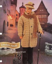 """COAT~HAT~SCARF""~Crochet Pattern for FASHION DOLL"